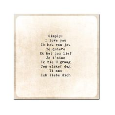 I Love You in Different Languages Romance by ShadetreePhotography, $12.00