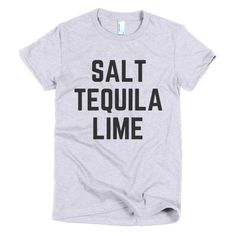 SALT TEQUILA LIME - Short sleeve women's t-shirt – FRENCH FRIES AND APATHY