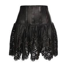 CHLOË SEVIGNY Corseted Leather Mini-Skirt