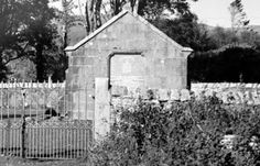 Tour Scotland Photographs: Old photograph of the Major General Lachlan Macquarie Mausoleum on the island of Isle of Mull, Scotland. Lachlan Macquarie was born on 31 January 1762,