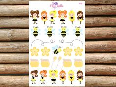 Cute Little Bees Decorative Planner Stickers  by EllieBellePrints