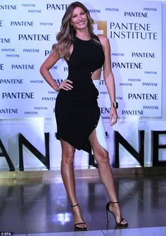 Centre of attention: Gisele Bundchen attended the opening of a beauty institute in Mexico City on Wednesday night in style