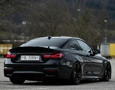 Blacked out BMW M4.