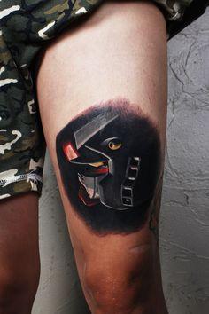 first Gundam tattoo by Jackson