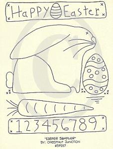 primitive easter embroidery | Home :: Stitchery Patterns :: Easter & Rabbits :: Easter Sampler