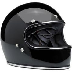 Gringo Helmet - Gloss Black with Chrome - LCS Motorparts