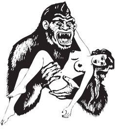 Estampa ' Sexy Monkey'. Autoria de Orlando Facioli.