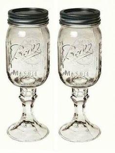redneck wine glasses... love these..
