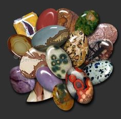 Gemstones and their meaning  These are all - believe it or not - jaspers. I use this exact website to determine what kind of jasper I have. I LOVE the picture jasper and picasso jasper and use a lot of ocean jasper.