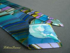 Mens Silk Tie Fathers Gift Mens Necktie Abstract Lines Wedding Tie Mens Gifts for him Hand Painted Tie Men Tie Handpainted Tie Silk Necktie  This Mens Tie is made of 100% natural SILK SATIN - Hand Painted and Handmade. Its one of a kind artist necktie - unique gifts for men  An elegant Art mens necktie handpainted - abstract silk painted lines and color effects with old gold color contour. Navy background.  This hand-painted tie could be a great gift for your friend, father, brother for his…