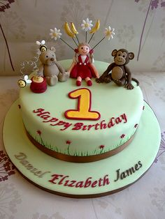 Triplets 1st Bithday Cake Happy Birthday Cake Images, Bithday Cake, Kaka, Triplets, Celebration Cakes, Cake Pops, Cake Ideas, Cake Decorating, Birthday Parties