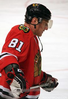 """It looks like Marian Hossa is honoring his friend Pavol Demitra again this year by wearing """"38"""" on his equipment - it's stitched into the cuffs of his gloves this season. (Last year, it was on his skates.)     Demitra was one of the hockey players who died in the Yaroslavl Lokomotiv plane crash."""
