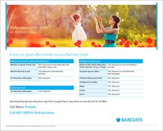Barclays Mauritius: Heart-warming offers for Mother's day. Tel: 402 1000