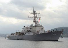 USS Bainbridge, DDG-96, Destroyer, Arleigh Burke class. Commissioned Nov 12, 2005.