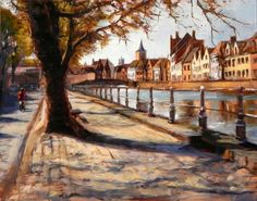 Jonelle Summerfield Oil Paintings: View of Bruges