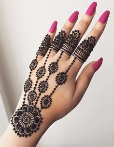 Explore latest Mehndi Designs images in 2019 on Happy Shappy. Mehendi design is also known as the heena design or henna patterns worldwide. We are here with the best mehndi designs images from worldwide. Henna Hand Designs, Eid Mehndi Designs, Mehndi Designs Finger, Modern Mehndi Designs, Mehndi Design Pictures, Mehndi Designs For Beginners, Mehndi Designs For Girls, Mehndi Designs For Fingers, Beautiful Henna Designs