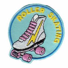 www.brokencherry.com  Roller Skate Patch