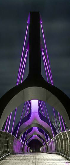 Europe's Longest Pedestrian Bridge Beautifully Illuminates Sweden's Sölvesborg Bay