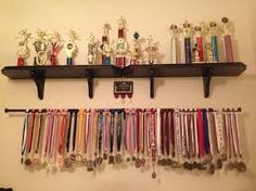 Image result for ways to display medals and ribbons