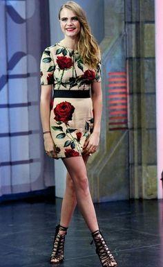 Hot or Not: Cara Delevingne's Rose Print Mini Dress http://amehkristine.buzznet.com/user/journal/25405545/hot-not-cara-delevingnes-rose/