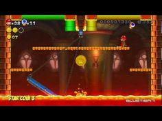 New Super Mario Bros. U - (Co-op) Acorn Plains-Castle | Lemmy's Swingback Castle Star Coins