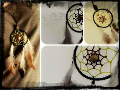 Dreamcatcher necklace - Handjorda dreamcatcher halsband ...