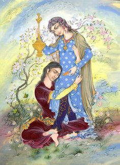 (140) Reza Mahdavi Oil Painting On Canvas, Canvas Art, Persian Motifs, Art Asiatique, Persian Culture, Iranian Art, National Art, Art Case, Indian Paintings