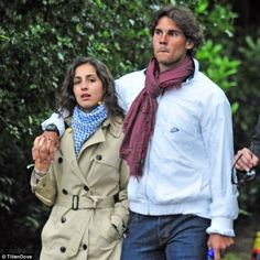 Rafael Nadal pulling off a scarf...how does he do it?!