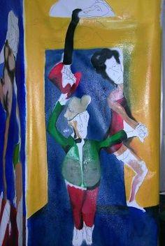 balera #6 tecnica mista, olio e acrilico su tela  dimensioni cm 200 x 100 VENDUTO - PRIVATO www.edoardopiva.com