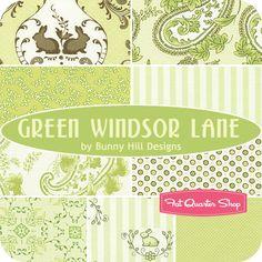 Green Windsor Lane Junior Jelly Roll Bunny Hill Designs for Moda Fabrics - Fat Quarter Shop