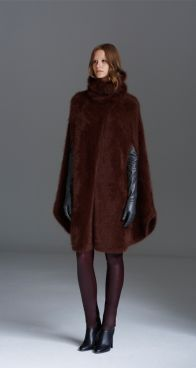 Scanlan Theodore Super Angora Long Cape Leather Long Gloves & Stretch Leather Leggings