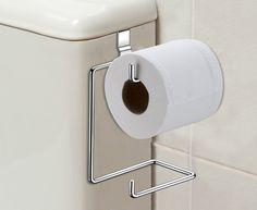 Suporte para papel higiênico - 2 rolos - Praticidade e funcionalidade em seu banheiro! - Banheiro / Ganchos, Travas e Suportes