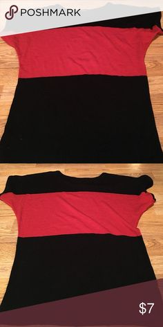 Black and red striped Maurice's sweater medium Short sleeves, dressy casual fun look Maurices Sweaters