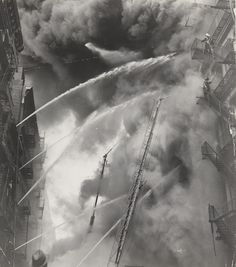 Unknown Photographer. Five Alarm Fire at Spring and Greene Streets. February 21, 1957
