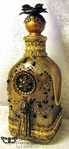 FRIENDS in ART: The Magic of A Golden Bottle on the @finnabair Blog Today