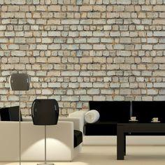 Papel de parede adesivo tijolo - StickDecor   Decoração Criativa