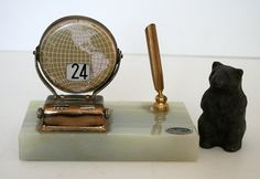 Vintage Perpetual Calendar Office Desk Decor by metrocottage, $23.50
