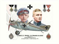 Ww2 Aircraft, Fighter Aircraft, Military Aircraft, Flying Ace, World War One, Aviation Art, Model Airplanes, Luftwaffe, Manfred Von Richthofen