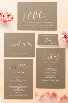 Charming Love - Whimsical Wedding Invitations with Gold Foil by Melanie Severin on Minted.com