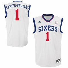 adidas Michael Carter-Williams Philadelphia 76ers Revolution 30 Home Replica Jersey - White