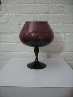 1950s Italian Empoli Glass Amethyst Goblet by Modarts1 on Etsy