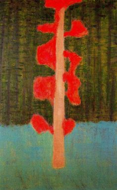 Milton Avery (Am. 1885-1965), Hint of Autumn, 1954, Oil on canvas. 53 x 34 inches