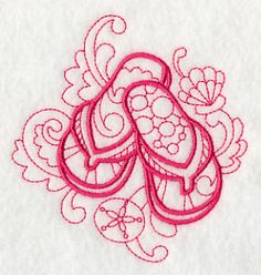 Items similar to Doodle Flip-Flops flour sack towel, tea towel, hand towel, bath towel, dish towel on Etsy Machine Embroidery Designs, Embroidery Patterns, Hand Embroidery, Embroidery Stitches, Flip Flop Tattoo, Towel Apron, Embroidered Apron, Rock Painting Patterns, Fingertip Towels