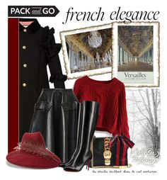 """""""Pack & go - Versalles (France)"""" by cool-cute ❤ liked on Polyvore featuring Gucci, Chicwish, Rochas, Christian Louboutin, france, Packandgo, winterstyle, winterholidays and versalles"""
