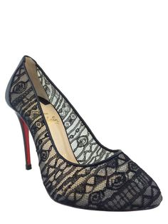 3bf51606b8a1 Christian Louboutin Dorissima Lace Pumps Size 7 NEW - Consigned Designs