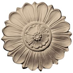 """Pearlworks ROST-164 Approx. 5-1/2"""" Dia. x 1"""" Flower Round Rosette ROS63626 - ArchitecturalDepot.com"""