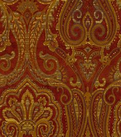 Upholstery Fabric-Waverly Clubroom Paisley Crimson    # 9093501     reg. 54.99SALE 21.99    60% off 54'' Home Decor Fabrics    --------------------------------------------------------------------------------    54'' Wide. . 18% Acrylic 22% Polyester. Dry Clean Only Fabric May Crock .. . Made in China.