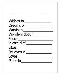 Joyful Learning In KC: Bio Poems -- I think this would make a cute beginning of year and EOY comparison/growth activity.
