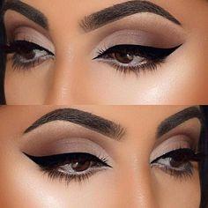 Lipsticksandlevis Make Up Beauty Makeup Cat Eye Makeup Eye Makeup Glitter, Cat Eye Makeup, Natural Eye Makeup, Eye Makeup Tips, Smokey Eye Makeup, Makeup Goals, Makeup Ideas, Winged Eyeliner, Makeup Hacks