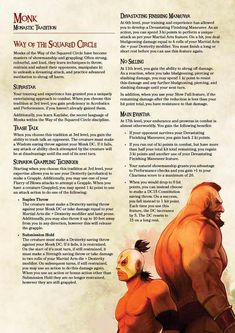 Monk Tradition - Way of the Squared Circle. First Attempt at homebrew! - Imgur